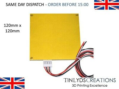 120mm x 120mm Aluminum Heated Bed 12V with PCB Kit For 3D Printer