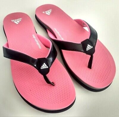 ADIDAS CLOUDFOAM ULTRA Womens Size 8 Thong Sandals Flip Flops Slipper BlackPink