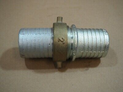 "Dixon 2"" Aluminum Hose Fitting Nipple / Valve Coupling Shank Male Female Lug Set"