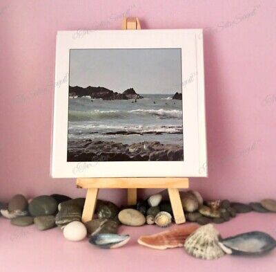 Blank ANY OCCASION Greetings Card Cornish View Seagull Surf Sea Side Postcard