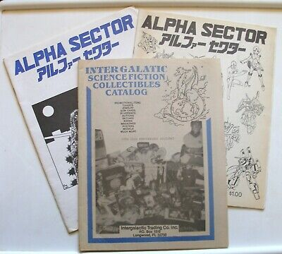 1986 Alpha Sector and Inter Galatic Science Fiction Collectibles Catalogs