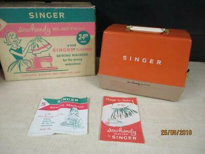 1960's SINGER SEWHANDY ELECTRIC SEWING MACHINE MODEL 50 - AMAZING CONDITION