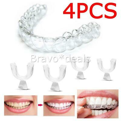 4x Silicone Night Mouth Guards for Teeth Clenching Grinding Dental Sleep Aid AU