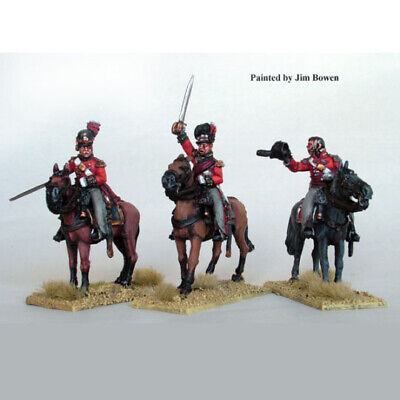 PERRY MINIATURES FN117 - Napoleon and Staff Mounted - 28mm