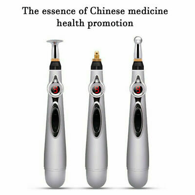 Electric Acupuncture Point Body Head Massage lectronic Meridian Energy Pen AU