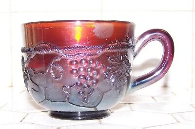 """Vintage Northwood Grape & Cable Carnival Glass Amethyst Tea / Punch Cup, 7 Oz""""s"""