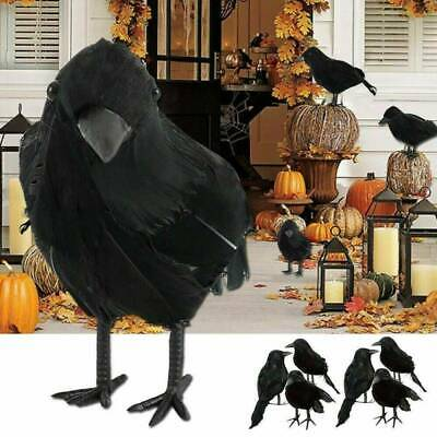 6PCS Halloween Artificial Crow Black Bird Raven Prop Scary Decoration For Party