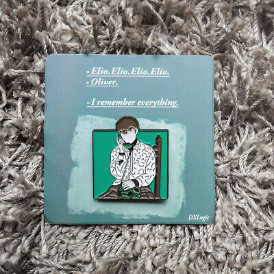 André Aciman Call Me by Your Name CMBYN Elio Oliver Call Badge Pin Brooch