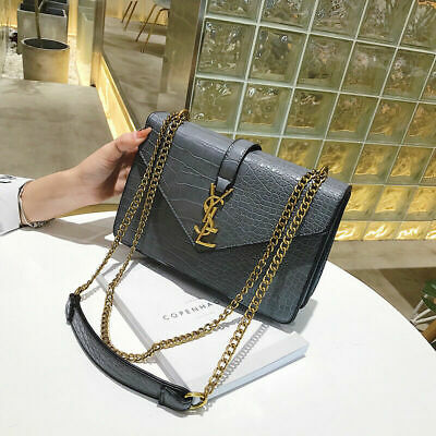 Women Quilted Leather Shoulder Messenger Chain handbag fashion Bag