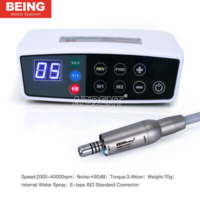 Dental Brushless Electric LED Micro Motor E-type ISO Standard connector Being