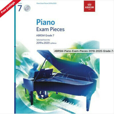 ABRSM Piano Exam Pieces 2019 2020 Syllabus Grade 7 Sheet Music Book and CD (NEW)