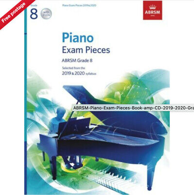 ABRSM Piano Exam Pieces 2019 2020 Syllabus Grade 8 Sheet Music Book and 2 x CDs