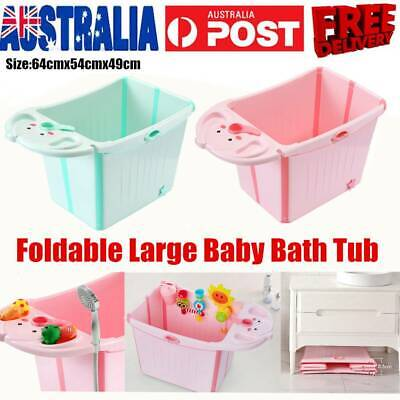 Large Foldable Baby Toddlers Kids Bath Tub Water toChest Bubble Bathtub Fullbody