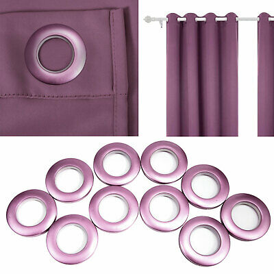 Round Eyelet Ring Clips Grommet For Eyelets Curtain Blinds Drapery Purple