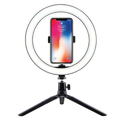 "10"" Phone Selfie LED Ring Light with Stand Youtube Tiktok Makeup Video Live"