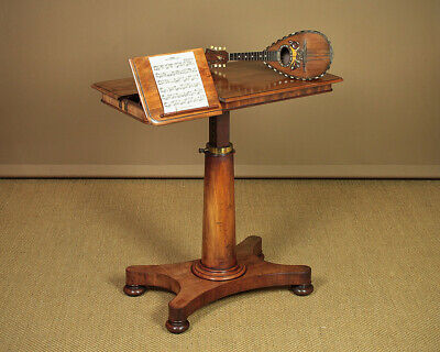 Antique Metamorphic Mahogany Reading Table & Duet Music Stand c.1860.
