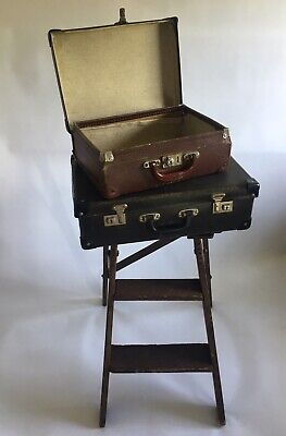 Rustic Vintage Step Ladder Stand & Cases Wedding Display Farmhouse Industrial
