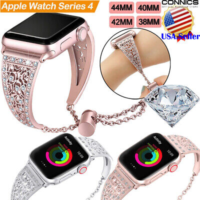 Bling Apple Watch Series 5 4 3 2 1 40/44MM Stainless Steel Bracelet Band Strap