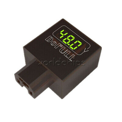 2A USB Car Phone Charger Digital Display Green w/ Voltmeter 36V 48V 60V 72V 96V