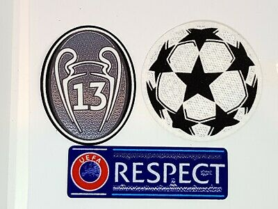 UK STOCK 2018 Real Madrid Europe 13 Star Champions Trophy Football Iron On Patch