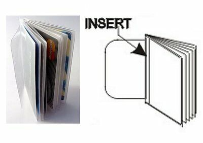 USA Quality Heavy Duty 10 Page Trifold Wallet Insert Pictures Credit Cards