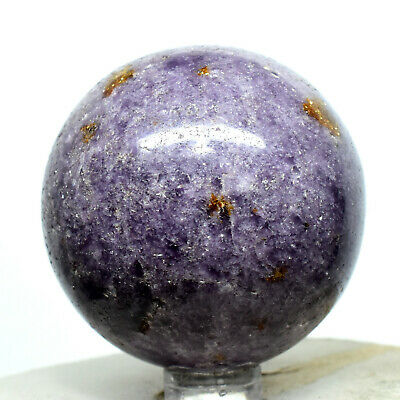 "2.1"" Purple Lepidolite Sphere Natural Sparkling Flower Sugilite Crystal Madagas."
