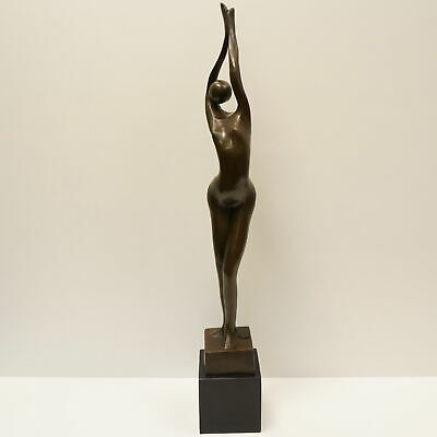 Statue Sculpture Dancer Sexy Modern Style Solid bronze Signed