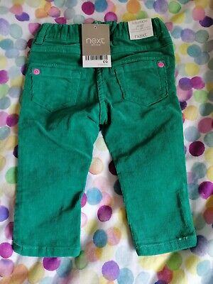NEXT*BNWT* Baby Girls Green fine corduroy trousers