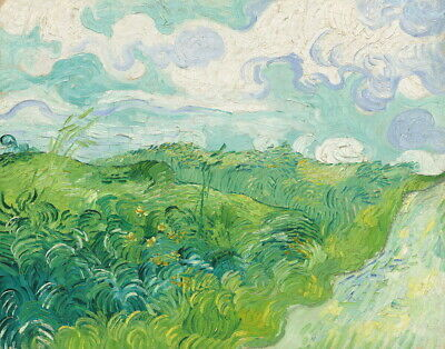 Vincent Van Gogh Green Wheat Fields Auvers Giclee Canvas Print Paintings Poster
