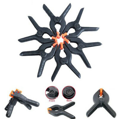 6PCS Woodworking Grip Toggle Clamps Spring Clip Tool Hard Plastic Black