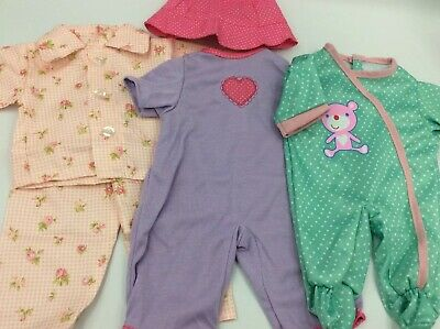 """Lot Of 15"""" Baby Doll Clothes Outfits Fits AG Bitty Baby And Larger Baby Alive 3"""