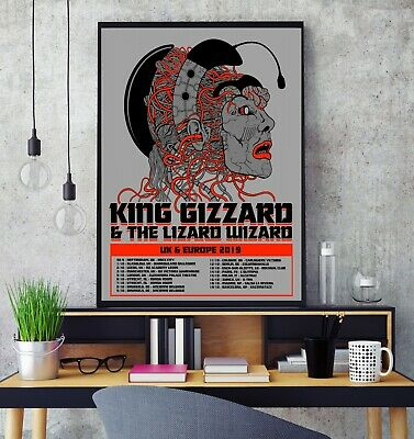 King Gizzard and the Lizard Wizard UK Tour 2019 Premium Poster Print Glossy HD