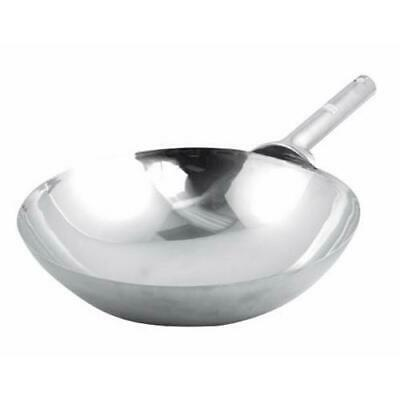 Winco - WOK-14W - 14 in Stainless Steel Chinese Wok