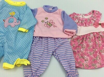 """Lot Of 14"""" Baby Doll Clothes Outfits Fits Larger Baby Alive 1a"""