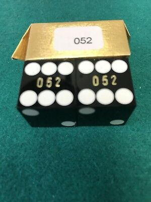 Black Casino Dice Sold By Pair