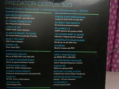 ACER PREDATOR CESTUS 320 RGB Gaming Mouse w/ On-The-Fly DPI