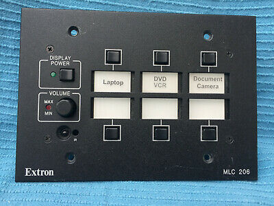 Extron MLC 206 panel with MediaLink Controller