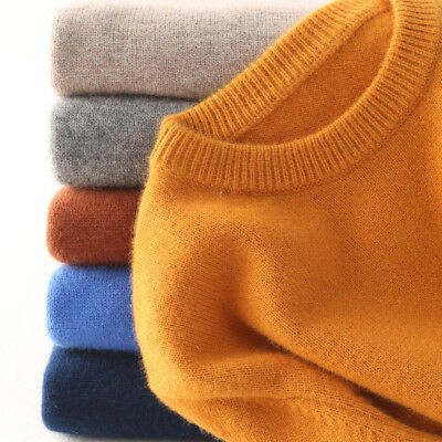 Men's Slim Knitted Cashmere Jumper Pullover Elasticity cozy Sweater Cardigan US