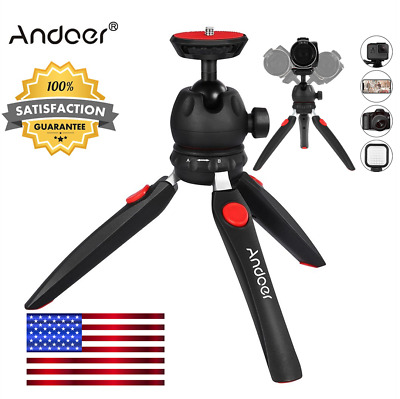 Portab Andoer Mini 24cm Tabletop Tripod +Ball Head For Camera DSLR Phone US Fast