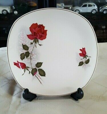 Vintage Johnson Of Australia Replacement Side Plate Pink Rose & Buds - 1960's