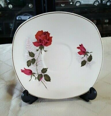 Vintage Johnson Of Australia Replacement Saucer Pink Rose & Buds - 1960's