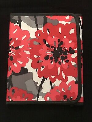 Thirty-One Fold-It-Up Organizer - Bold Bloom Red Black Gray iPad/Tablet Cover