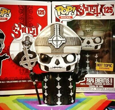 Funko Pop Rocks #125 Papa Emeritus II Ghost Hot Topic Exclusive SHIPS TODAY NEW