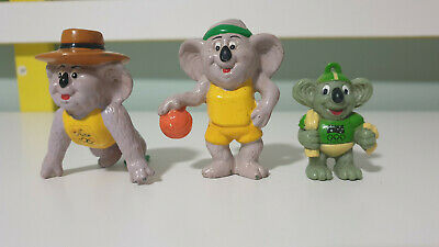 Olympics Figurines Koalas Uncle Tobys And Other 2 Koala In Yellow And Green