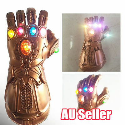 Avenge 3 Infinity War Infinity Gauntlet LED Cosplay Thanos Gloves With LED S4
