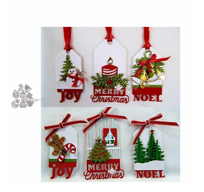 8PCS Christmas Decoration Metal Cutting Dies Stencil Scrapbook Embossing Craft
