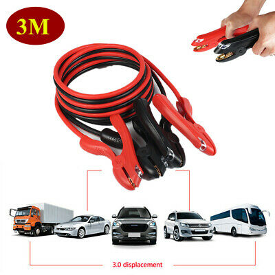2000AMP 3 Meters Booster Cables With Light Power Start Jumper Duty Car Van Part
