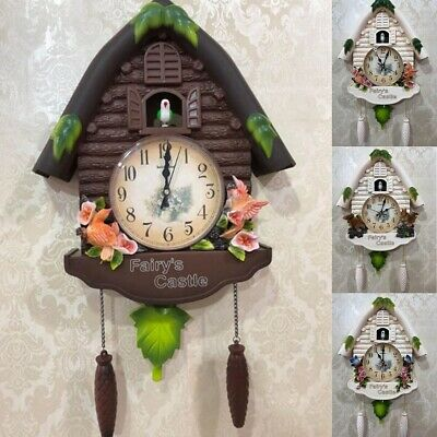 Cute Large Birdcall Cuckoo House Wall Clock Home Kid Room Decor Home Office Gift