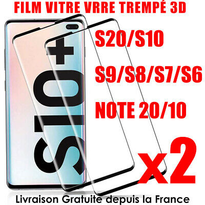 FILM PROTECTION ECRAN VITRE VERRE TREMPE SAMSUNG S10 PLUS S10e protection total