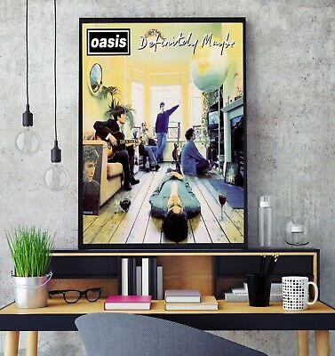Oasis Definitely Maybe 1994 Album Premium Poster Print Professional Grade Gloss